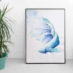 aquarel illustratie vis